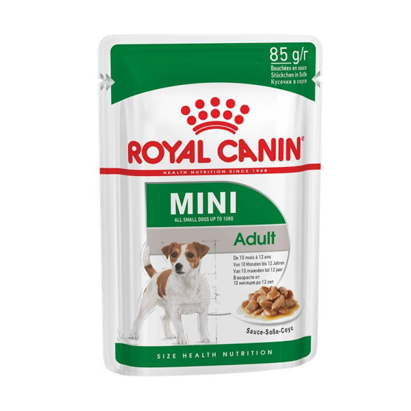 Royal Canin Mini Adult Wet Food Pouches 12 x 85 g
