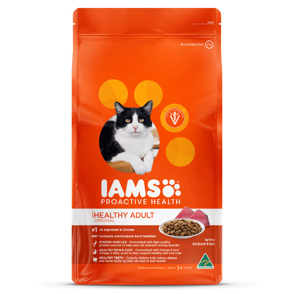 Iams Healthy Adult With Ocean Fish Cat Food 8kg
