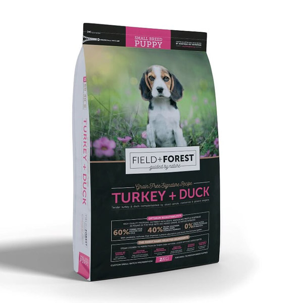 Montego – Field + Forest Turkey and Duck Small Breed Puppy Dog Food 7kg